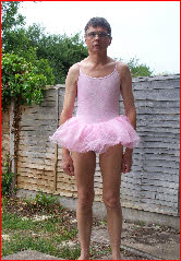Sissy Chris in ballerina outfit